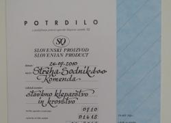 Certifikat 2010-2012
